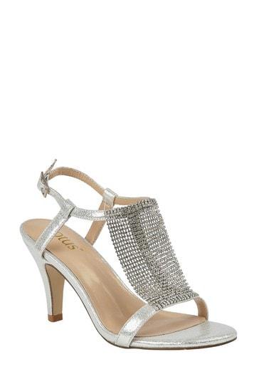 Lotus Footwear Silver Open-Toe Sandals