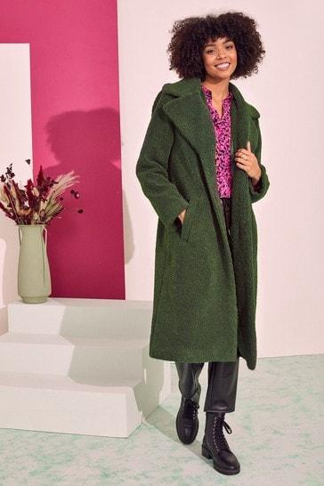 Love & Roses Khaki Teddy Coat