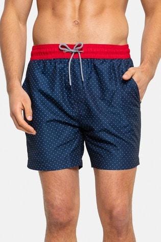 Threadbare Navy Polka Dot Swim Shorts