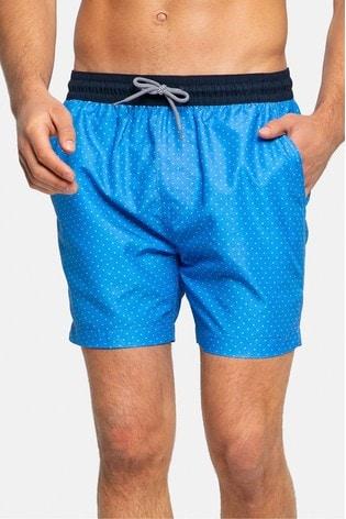 Threadbare Blue Polka Dots Swim Shorts