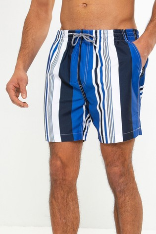 Threadbare Blue Stripe Swim Shorts