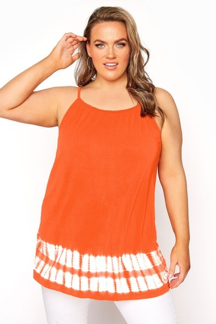 Yours Orange Tie Dye Swing Vest
