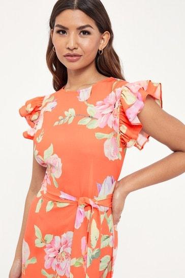 Lipsy Multi Printed Tier Midi Dress