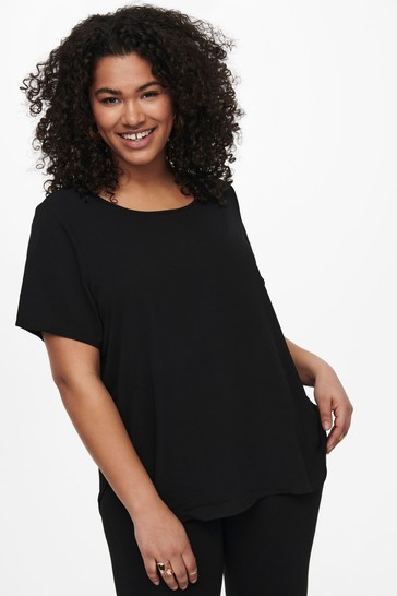 Only Black Curve Woven T-Shirt