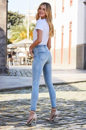 Sosandar white Super Soft Premium Jersey V Neck T-Shirt