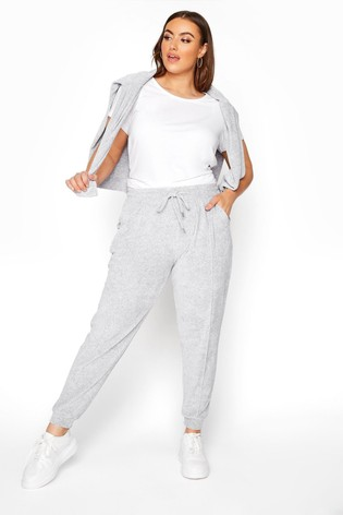 Yours Grey Velour Sweat Jogger