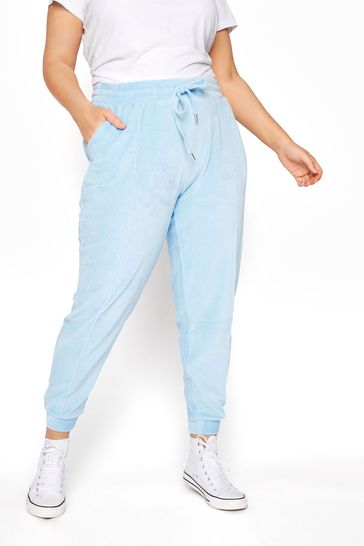 Yours Blue Velour Sweat Jogger