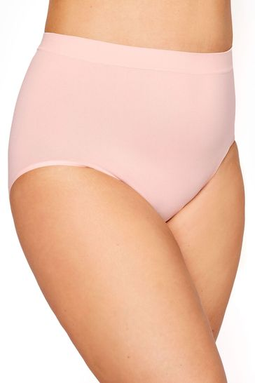 Yours Pink Seamfree Light Control Brief