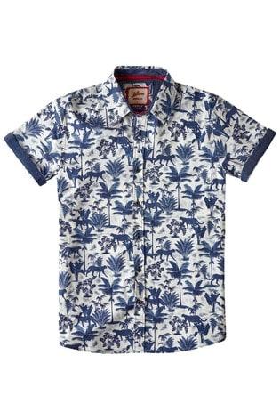 Joe Browns White Jungle Print Shirt