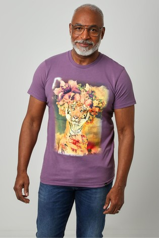 Joe Browns Purple Fabulous Floral Tee