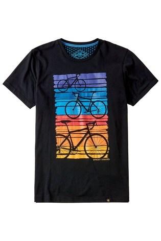 Joe Browns Black Sunset Bike Tee