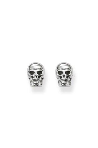 Thomas Sabo Silver Blackened Sterling Silver Skull Ear Studs