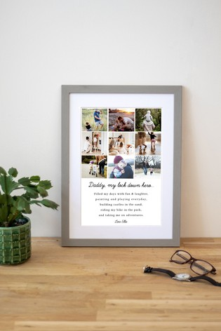 Personalised 'Lockdown Hero' Father's Day Print by Jonny's Sister