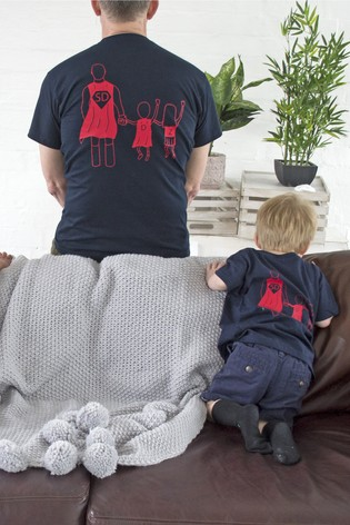 Personalised Adult Super Dad T-Shirts by Solesmith