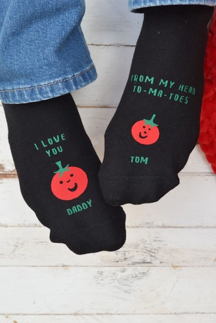 Personalised Love You From My Head To-Ma-Toes Socks by Solesmith