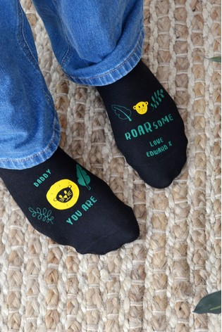 Personalised Roarsome Socks by Solesmith