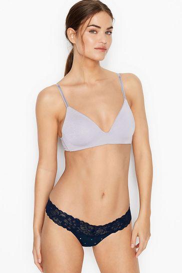 Victoria's Secret Stretch Cotton Lacewaist Thong Panty