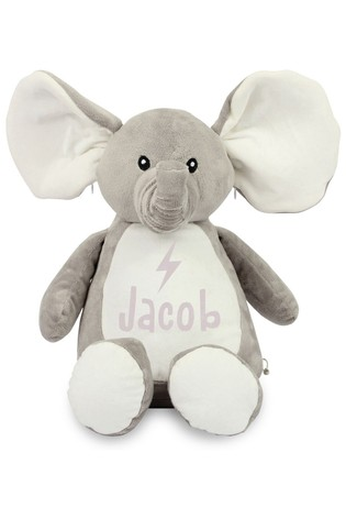 Personalised Elephant Name and Icon Cuddly Toy by Instajunction