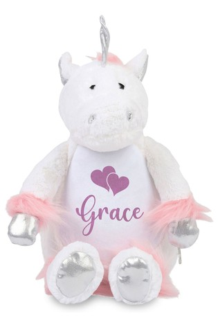 Personalised Unicorn Name and Icon Cuddly Toy