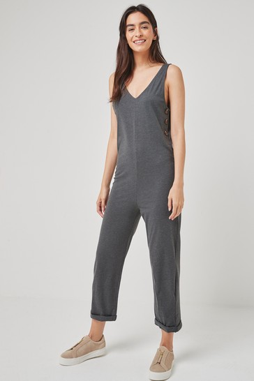 JDY Dark Grey Melange Sleeveless Lounge Jumpsuit