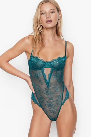 Victoria's Secret Wicked Unlined Shimmer Balconette Teddy