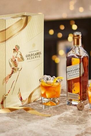 DrinksTime Johnnie Walker Gold Label Blended Scotch Whisky Gift Set