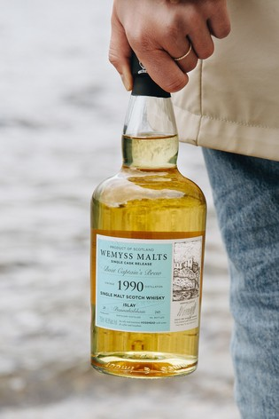 DrinksTime Wemyss Malts Bunnahabhain 1990 Single Cask 28 Year Old Boat Captain's Brew Single Malt Scotch Whisky