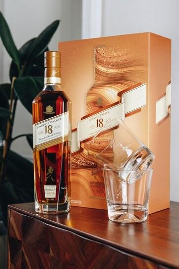 DrinksTime Johnnie Walker 18 Year Old Blended Scotch Whisky Gift Set