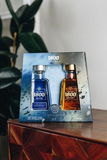 DrinksTime 1800 Silver & Reposado Tequila Gift Set
