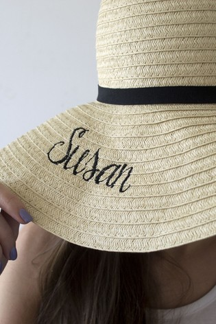Personalised Summer Straw Hat by Solesmith