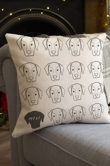 Personalised Dog Cushion by Solesmith