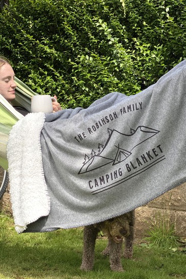 Personalised Camping Blanket by Solesmith