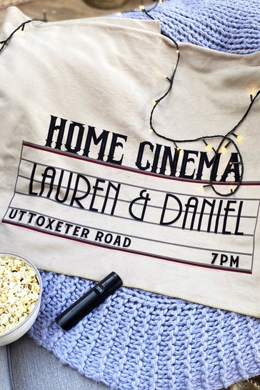 Personalised Home Cinema Family Blanket by Solesmith