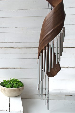Persaonlised Wooden Wind Chime by Solesmith