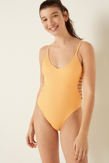 Victoria's Secret PINK Strappy Side Ribbed One-Piece