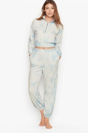 Victoria's Secret Mock-neck Stretch Fleece Half-zip Sweatshirt