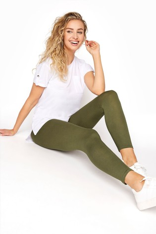 Long Tall Sally Green Crop Jersey Leggings