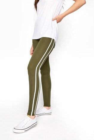 Long Tall Sally Green Side Stripe Leggings