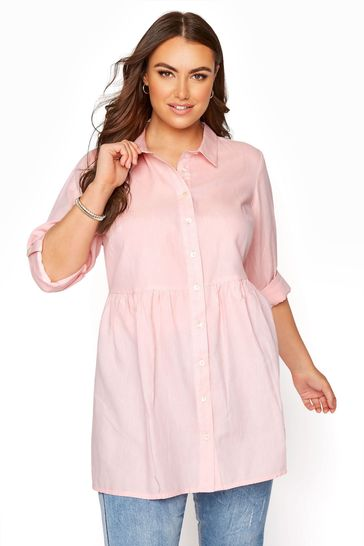 Yours Pink Peplum Blouse