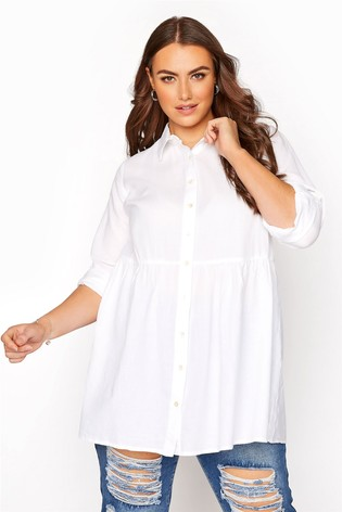Yours White Peplum Blouse