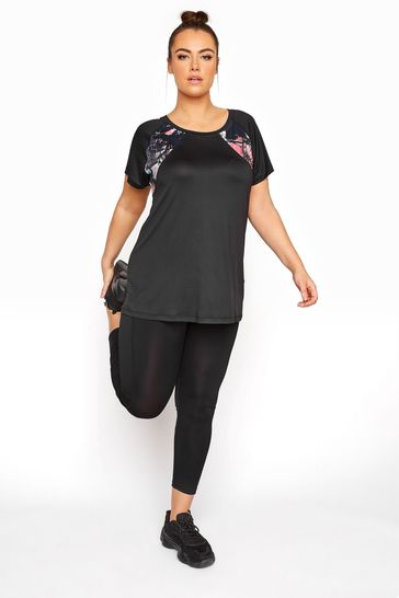 Yours Black Active Black 7/8 Legging