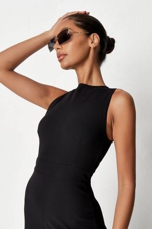 Missguided Black Culotte Jumpsuit