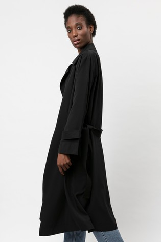 Religion Black Lightweight Trench With Belt
