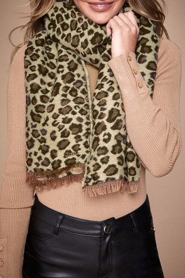 Lipsy Print Reversible Leopard Scarf
