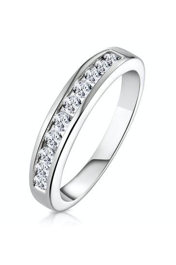 The Diamond Store White Rae 0.50CT Lab Diamond Half Eternity Ring 9K White Gold