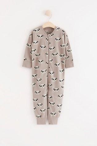Lindex Panda Print Zip Sleepsuit (Baby)