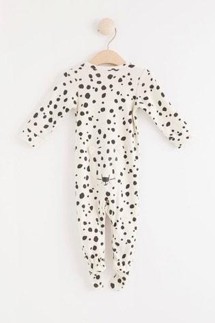 Lindex Spot Leopard Zip Sleepsuit (Baby)