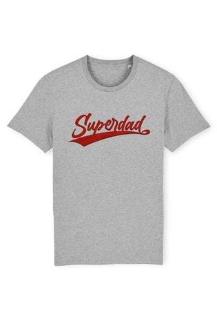 Instajunction Grey Superdad Men's T-Shirt