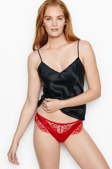 Victoria's Secret Lace Trim Strappy Thong Panty