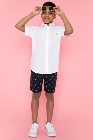 Threadboys Navy Ted Printed Chino Shorts
